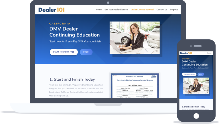 Auto Dealer Continuing Education Program (California DMV Approved)