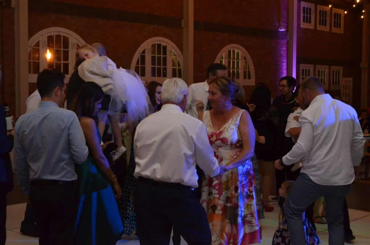 Guests of all ages enjoyed partying to celebrate the newlyweds at BRICK San Diego