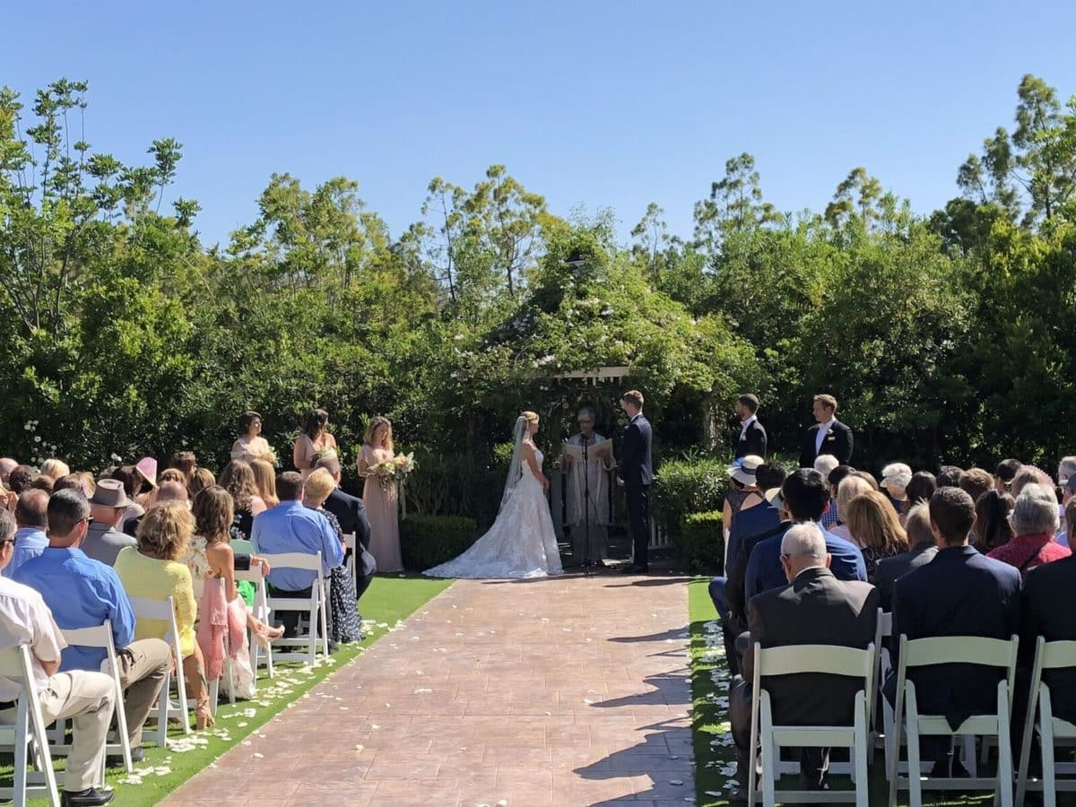 Beautiful Garden Ceremony at Carmel Mountain Ranch Country Club
