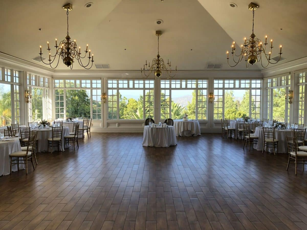 Amazing views from the windows of the ballroom at Carmel Mountain Ranch Country Club