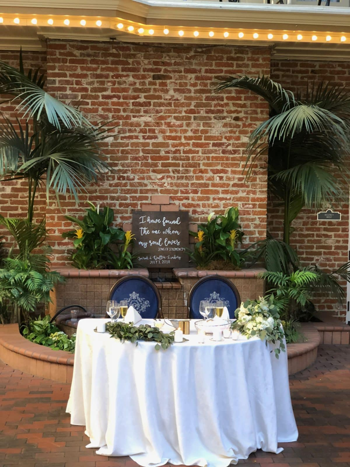 Sweetheart Table at Horton Grand