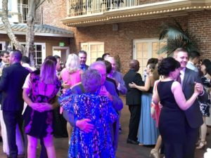 Friends and loved ones dancing the night away to celebrate Sarah and Dalton at the Horton Grand