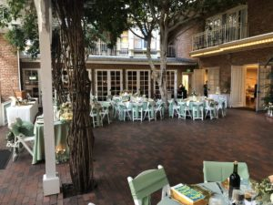 The Courtyard all done up for Katie and Kyle's reception at the Horton Grand