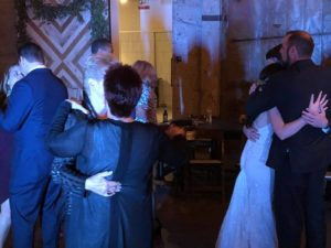 Dancing on well into the evening to celebrate the couple at Luce Loft
